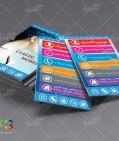 دانلود طرح فلت کارت ویزیت موبایل